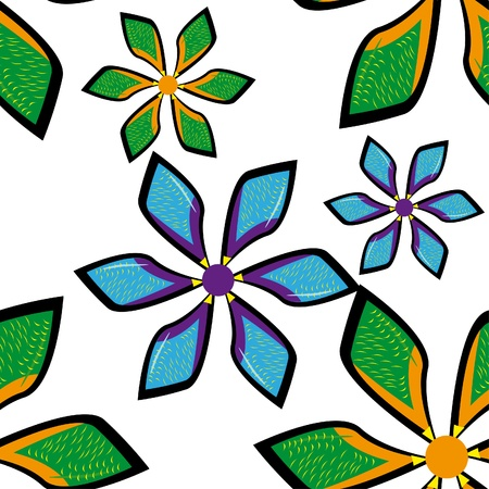 abstract pattern witn flowers. illustration Stock Vector - 10870369