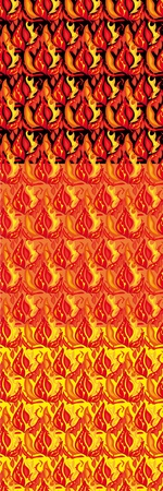 Set of fiery seamless structures. Vector Stock Vector - 10870394