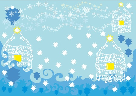 abstract winter background. Vector illustration Vector