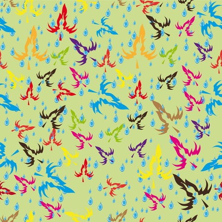 abstract pattern with autumn leaves Stock Vector - 10870402