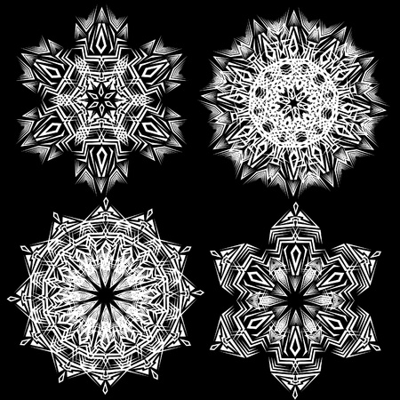 Abstract isolated vector snowflake. Illustration. Vector