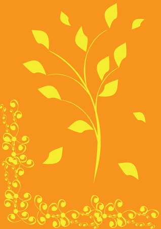 abstract with autumn Leaves. illustration. Vector