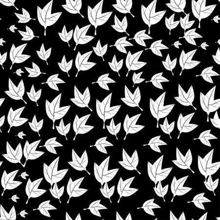 abstract pattern with autumn Leaves. illustration. Vector