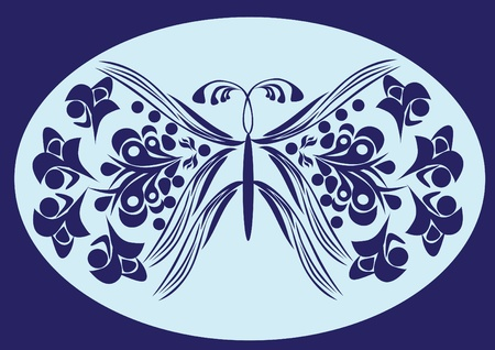 butterfly on isolated background. Illustration Vector