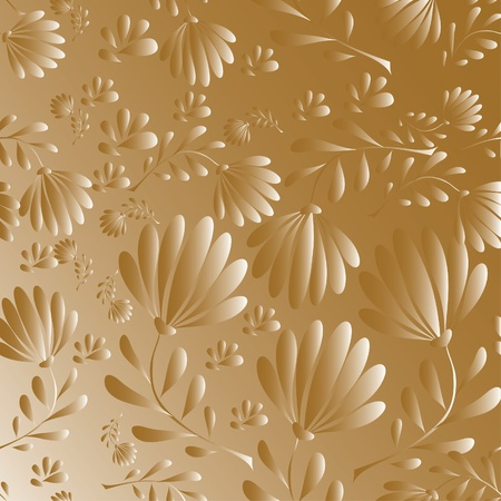 abstract pattern with Leaves. illustration. Vector