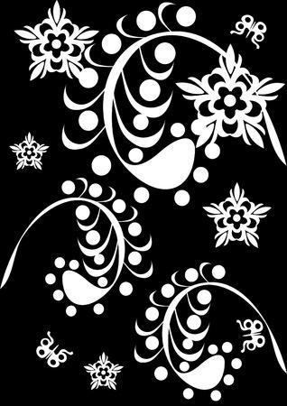 Abstract floral ornament. Illustration. Illustration