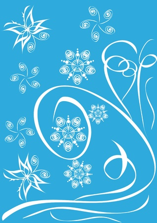 Abstract floral ornament. Illustration. Vector