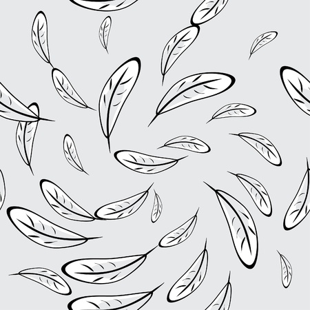 Abstract seamless structure with feathers of birds Vector