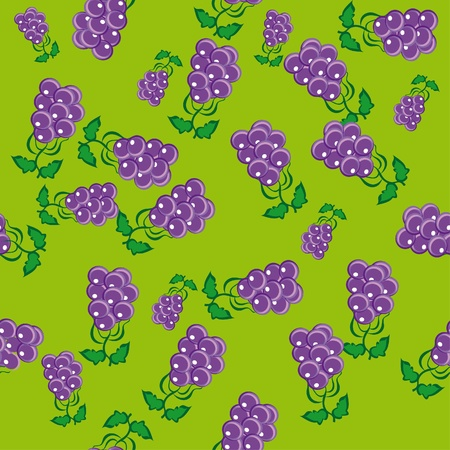 abstract pattern with grapes. illustration. Vector