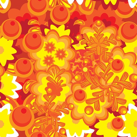 abstract pattern with flowers. illustration. Vector
