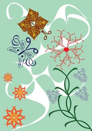 florid: Abstract floral ornament. Illustration. Illustration