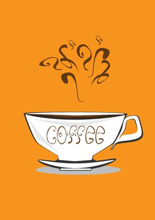 cup of coffee. Vector illustration Vector