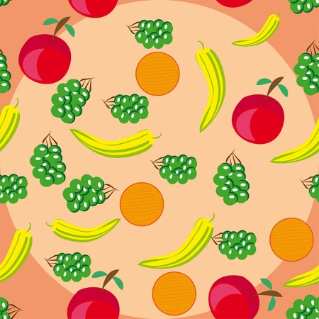 wine register: abstract pattern with fruits