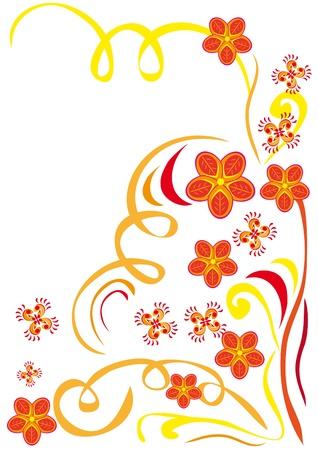 Riassunto ornamento floreale. Illustrazione.