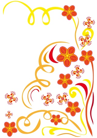 florid: Abstract floral ornament. Illustration. Illustration
