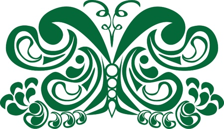 arthropod: abstract butterfly on isolated background. Illustration Illustration