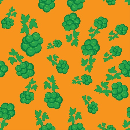 abstract pattern witn green grapes. illustration Vector