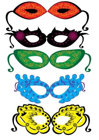 Set of carnival masks. Illustration Stock Vector - 10891764