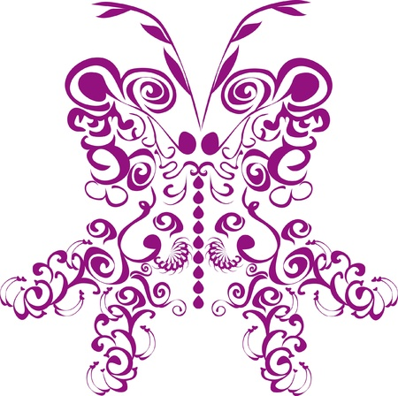 butterfly on isolated background. Illustration. Vector