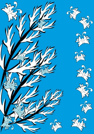 butterflies for decorations: Abstract background with feathers. Illustration.