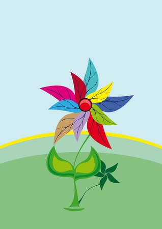 flower on isolated background. vector Illustration. Vector
