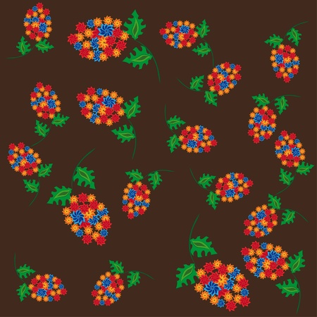 abstract pattern witn flowers. illustration Vector