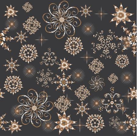 abstract pattern witn flowers. illustration Illustration