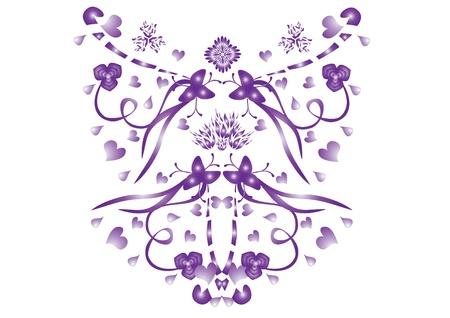 mariposa abstracta en el fondo aislado. Ilustración