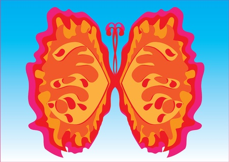 abstract butterfly on isolated background. Illustration Vector