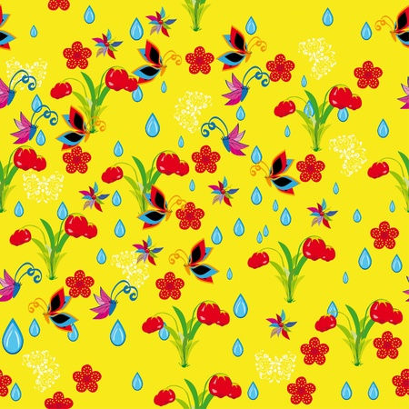 Cheerful children wallpaper. Illustration Vector