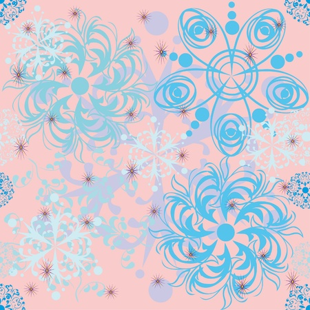 winter background with snowflakes. illustration Vector