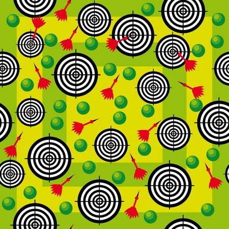 abstract seamless texture with target and darts. llustration Vector