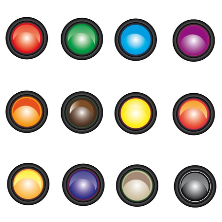 Set of web buttons. Vector illustration. Vector