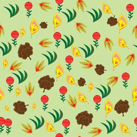 autumn seamless texture. illustration. Stock Vector - 10891591