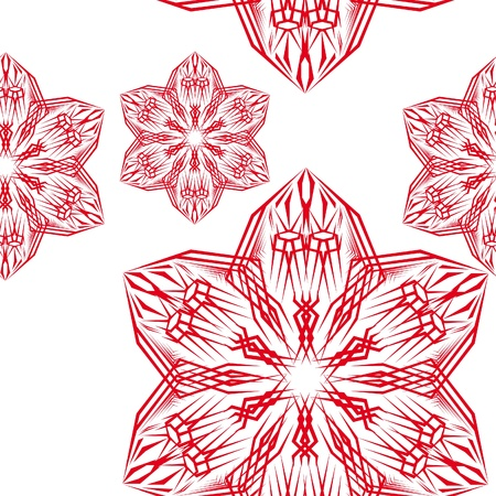 abstract pattern witn flowers. illustration Stock Vector - 10891801