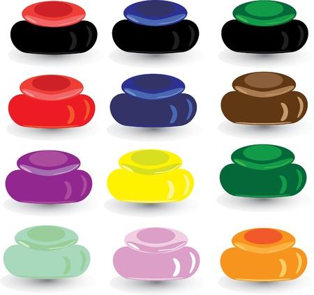 Set multi-colored box for cosmetics. Illistration. Vector