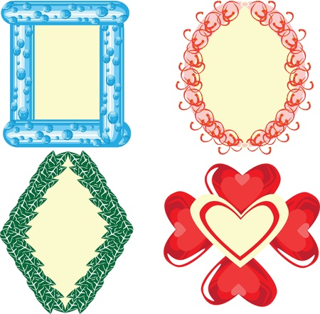 Frameworks for photos on a white background Stock Vector - 10891747