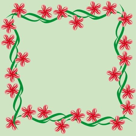 approximately: Abstract framework with flowers. Illustration Illustration