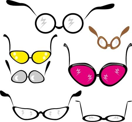set of glasses. Illustration. Illustration