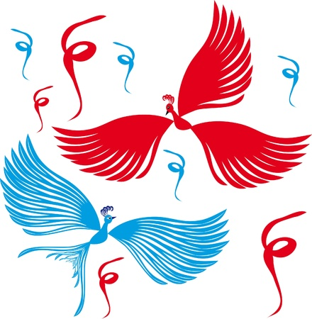 Two birds. Illustrations