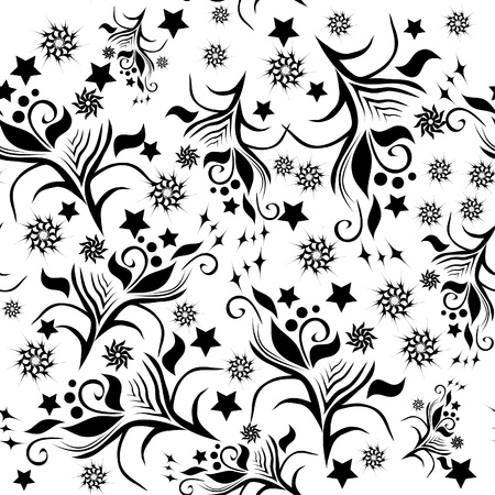 abstract seamless texture witn flowers. illustration Vector