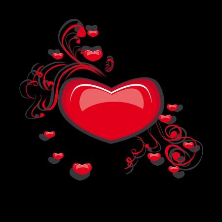 illustratie met liefde abstracte hart