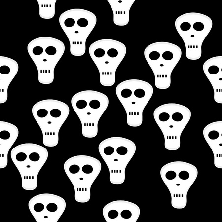 Abstract seamless structure with skulls Vector