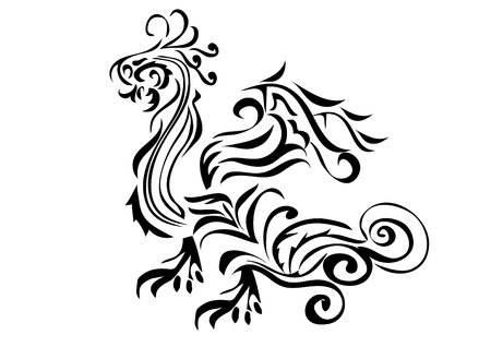 Dragon on the isolated background . vector illustration. Vector