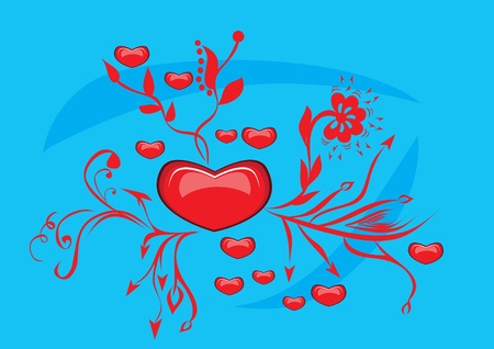 illustration with love abstract heart Vector