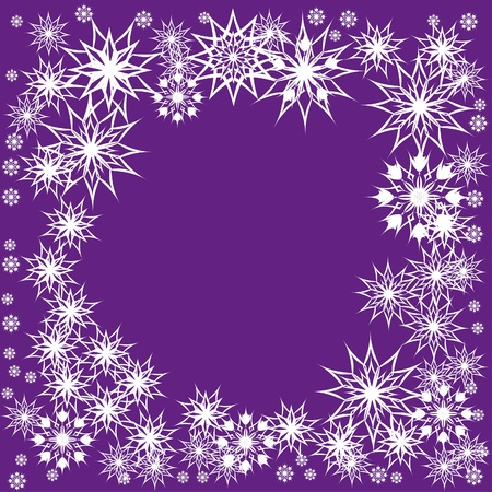 floral winter frame with snowflakes. illustration. Stock Vector - 11099355