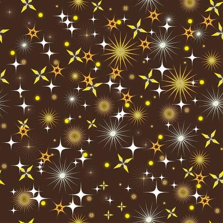 night sky with bright stars. Illustration Vector
