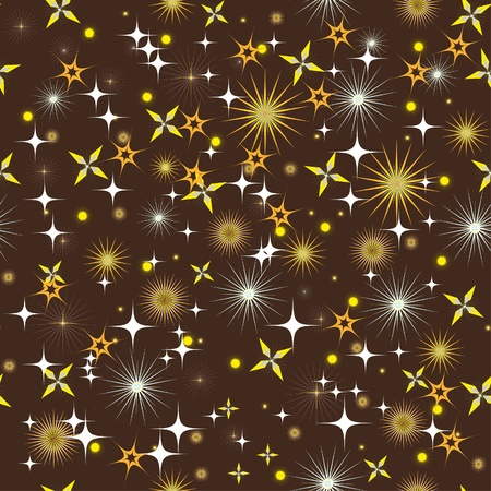 universo: night sky with bright stars. Illustration