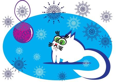 simbol: fumetto gatto piccolo su sfondo isolato