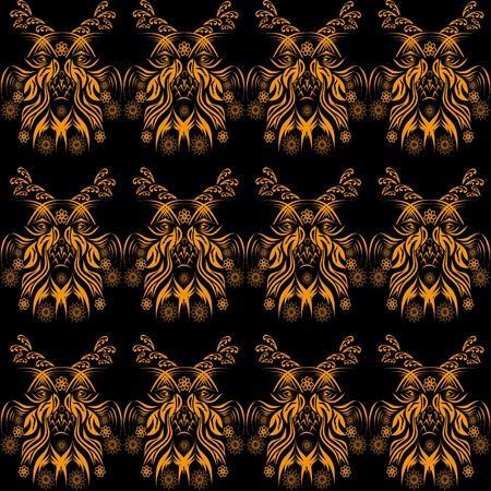 winter seamless pattern. vector illustration Vector